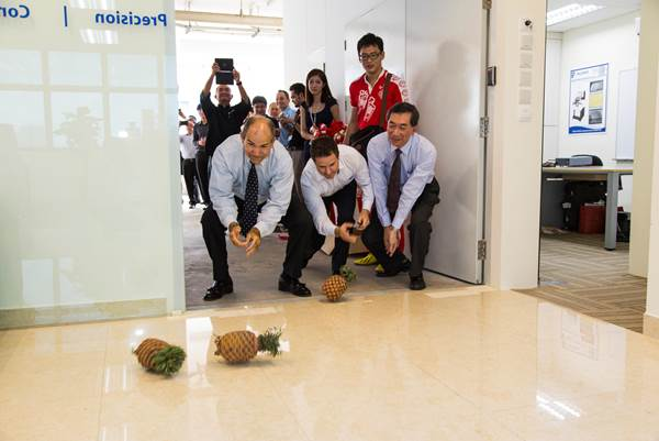 new Palomar Technologies Asia Singapore office opens with traditional Chinese prosperity ceremonies