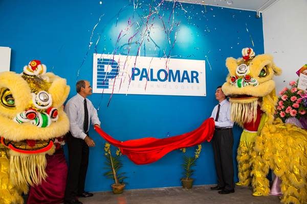 Palomar Technologies Asia Singapore office reveals company logo