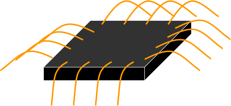 IC with wire bonds