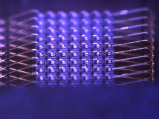 lit array blue cree 290 micron angle view