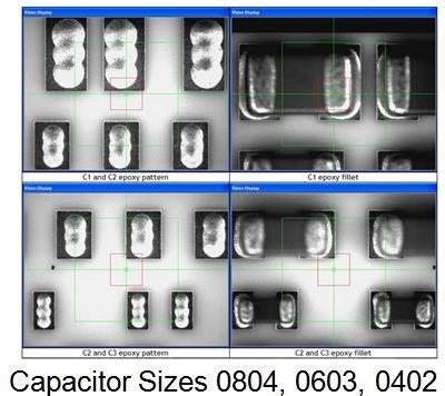 Ag filled epoxy attach, capacitors