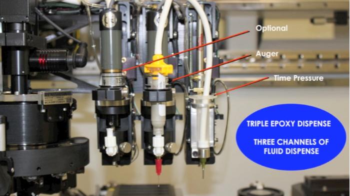 epoxy dispense options, time pressure dispense, epoxy, 3800 die bonder