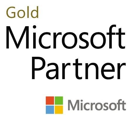 Gold Microsoft Partners logo