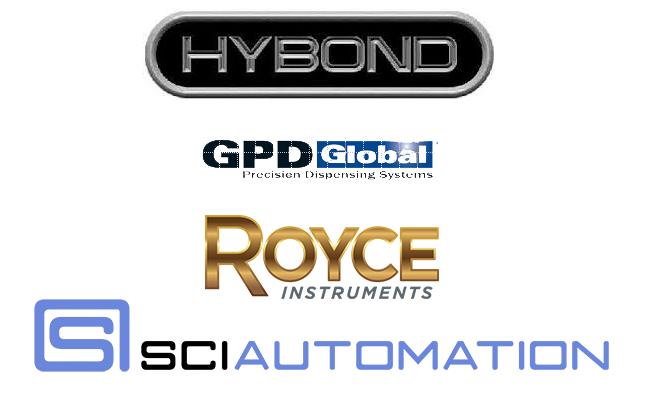 Alliance company logos, Hybond, GPD Global, Royce, SCI Automation