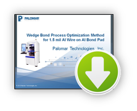 wedge bond, webinar, aluminum wire, bond pads, process optimization