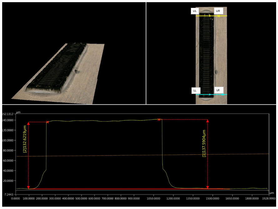 3D measurement of Fixed Height Bond Line using Ag Sintering